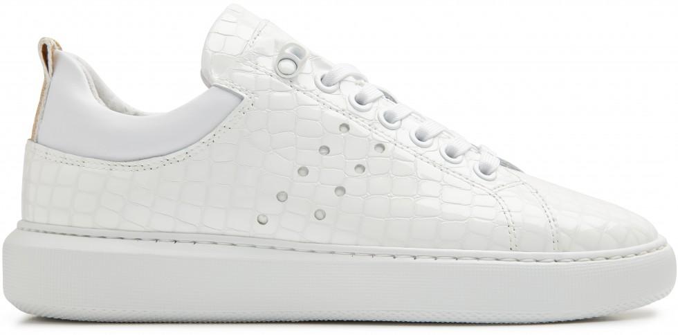 Witte Sneaker Rox Croco Nubikk
