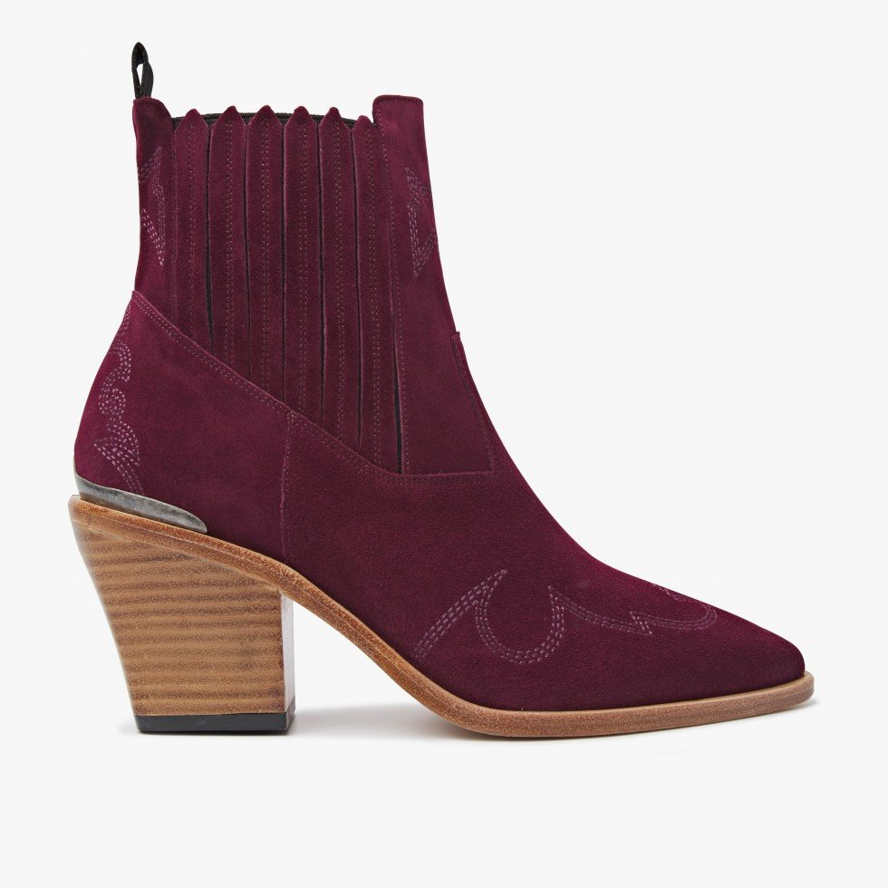 Romee Cura | Bordeaux Ankle Boots