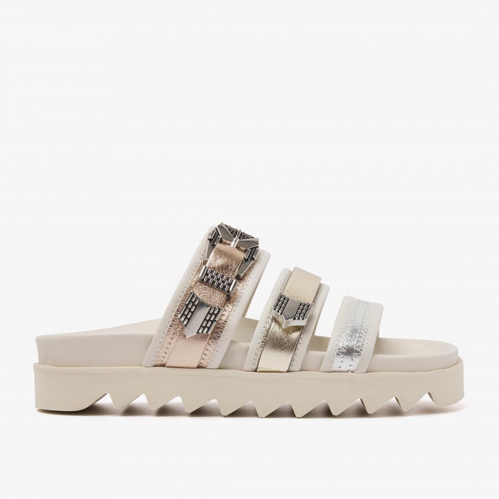 Nubikk Lauren Taro II Beige Metallic Sandals