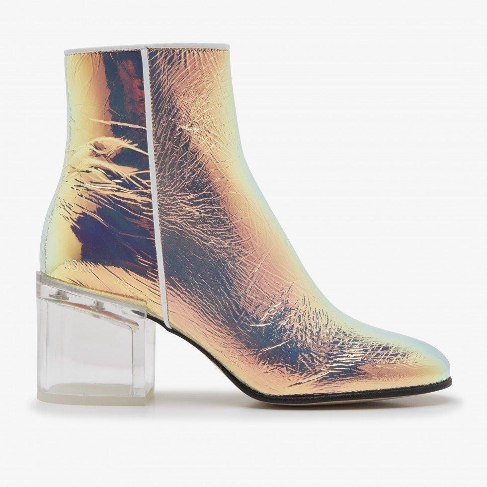 Gigi Ardena | Metallic Ankle Boots