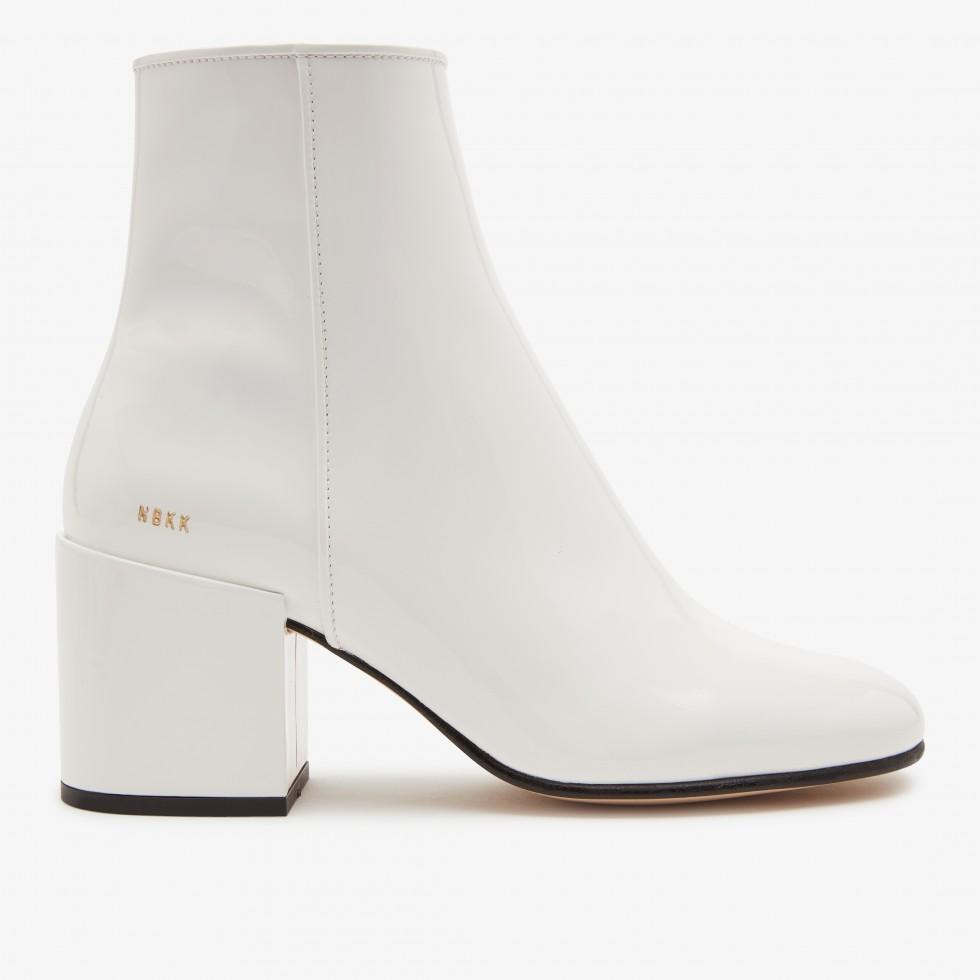 White Ankle Boots Gigi Roma Patent II Nubikk
