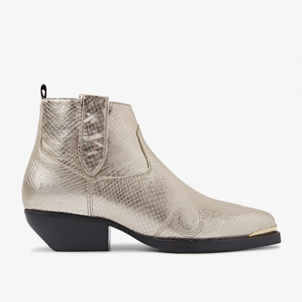 Nubikk Holly Santos Gold Ankle Boots