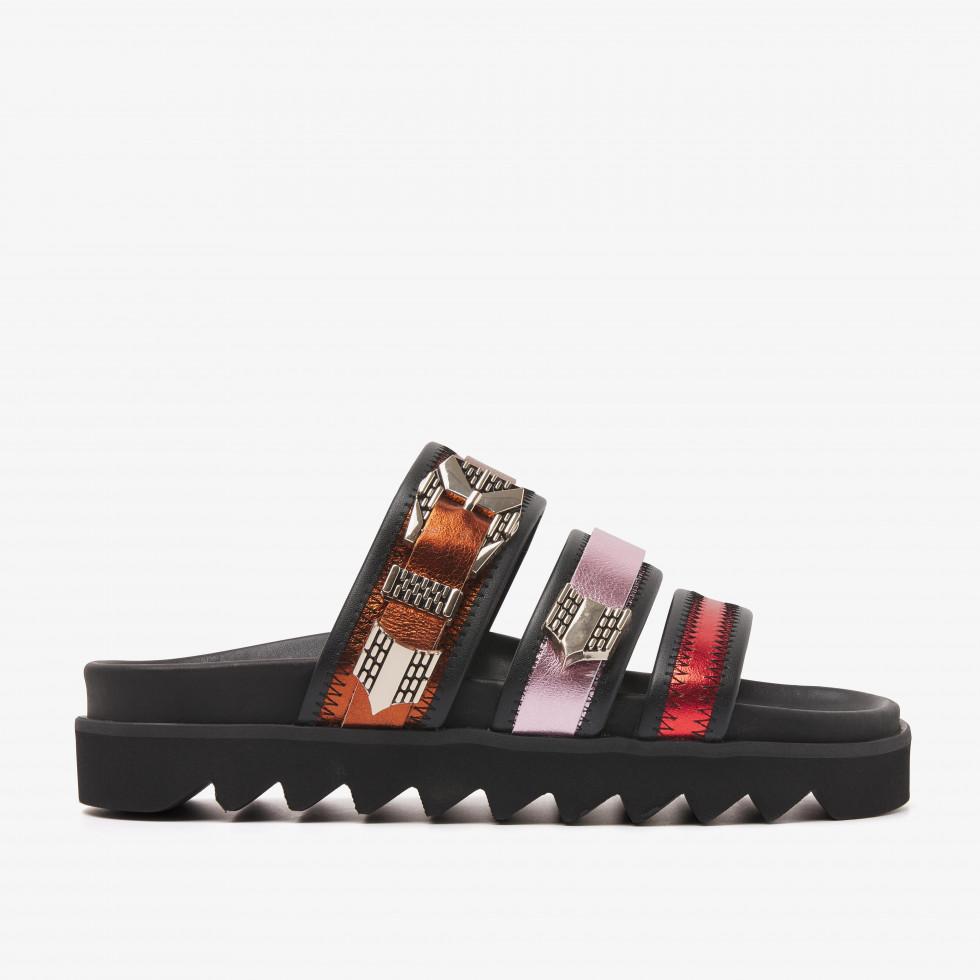 Nubikk Lauren Taro II Multi Metallic Sandals