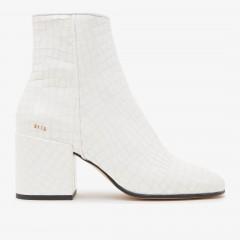 Gigi Croco | White ankle Boots