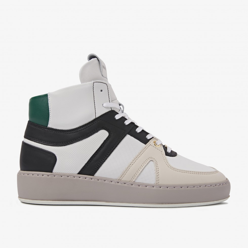 Nubikk Jiro Dunk Green White Sneakers