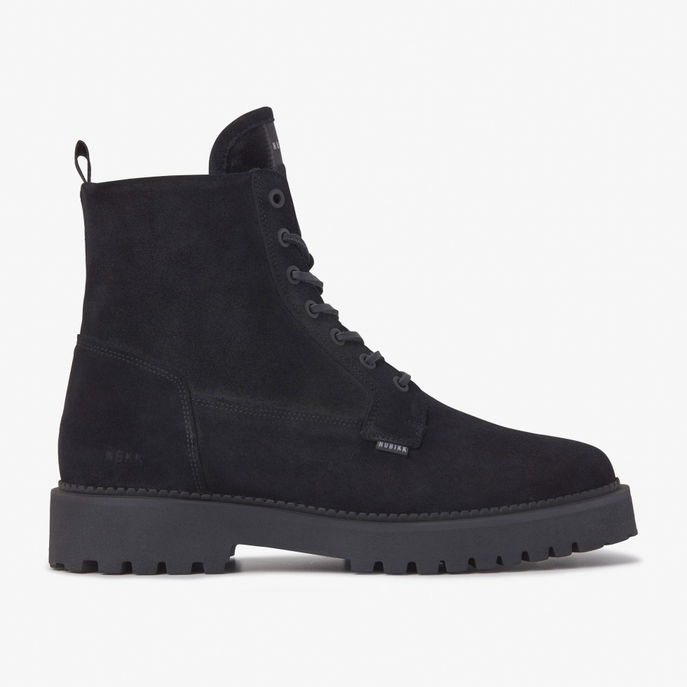 Logan Day | Black Suede Boots