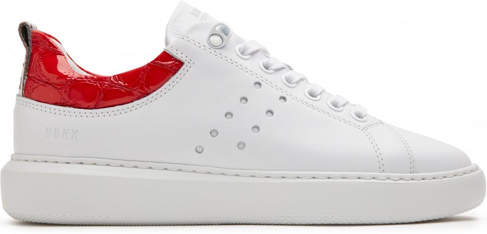 Witte Sneaker Rox Multi Red Croco Nubikk