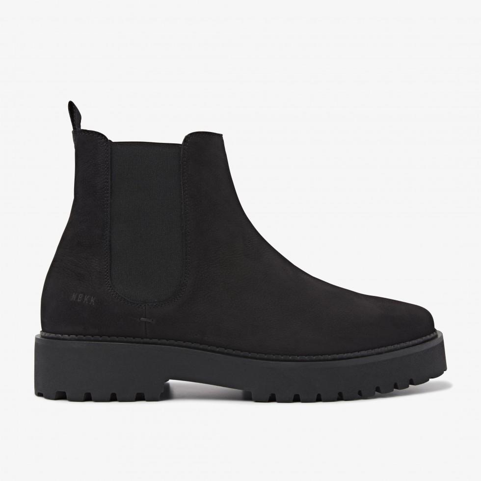 Nubikk Logan Rai Schwarze Chelsea Boots