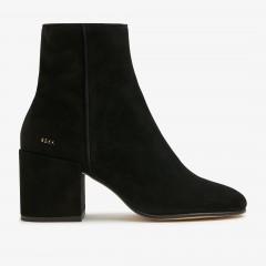 Gigi Suede | Black Ankle Boots