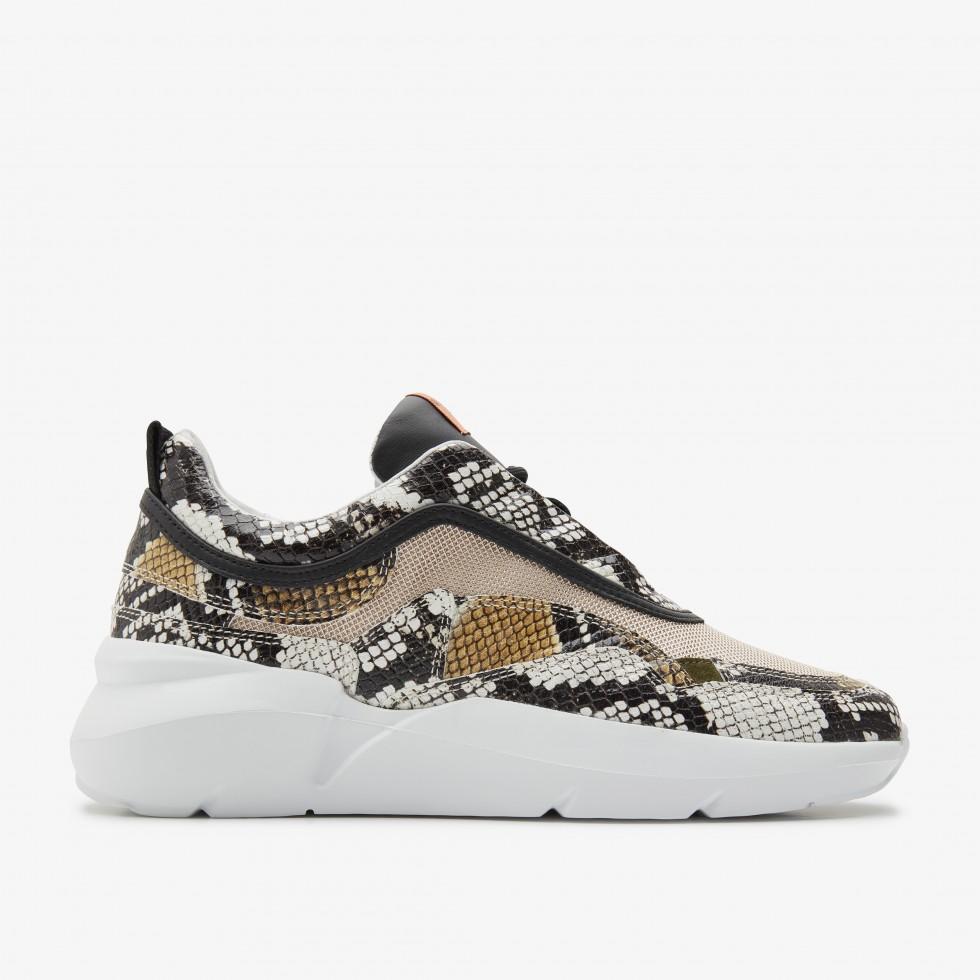 Nubikk Lucy Boulder Python Beige Sneakers