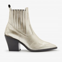 Romee Cura | Gold Ankle Boots