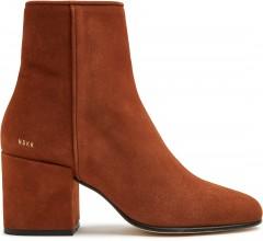 Gigi Suede | Cognac Ankle Boots