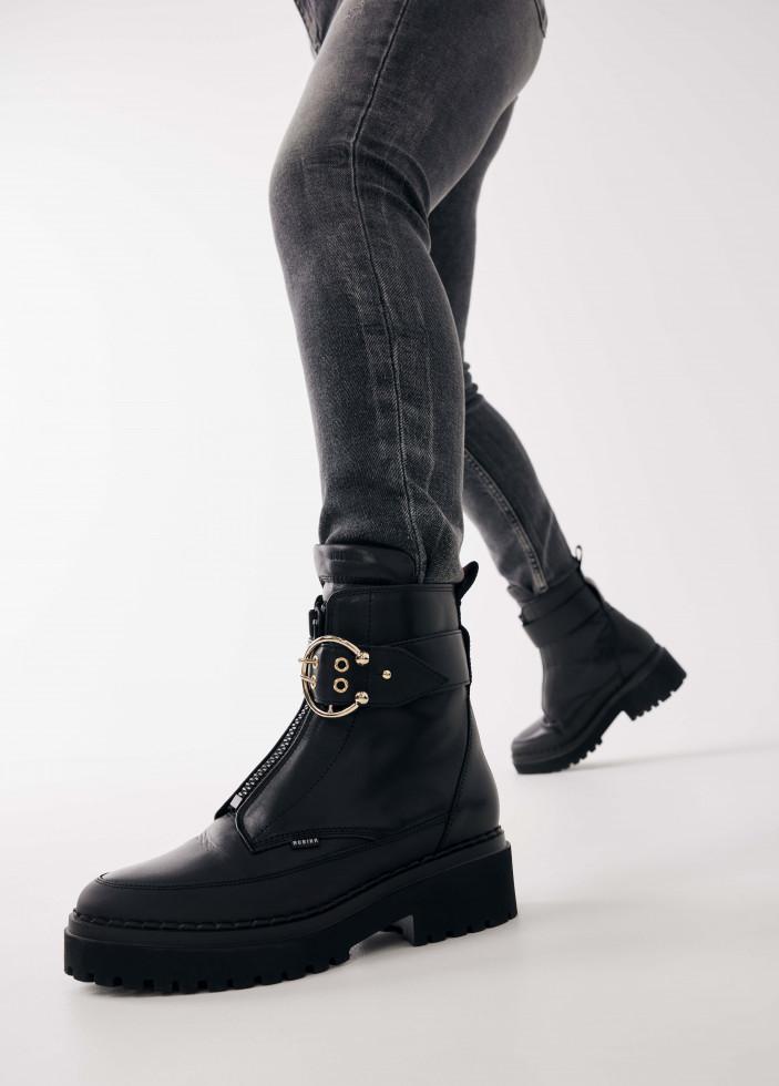 Nubikk Fae Ray Zwarte Biker Boots
