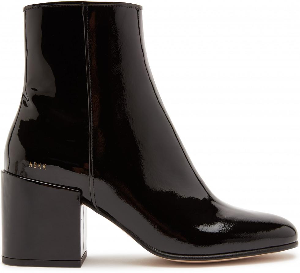 Black Ankle Boots Gigi Roma Patent II Nubikk