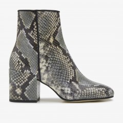 Gigi Python | Green Ankle Boots