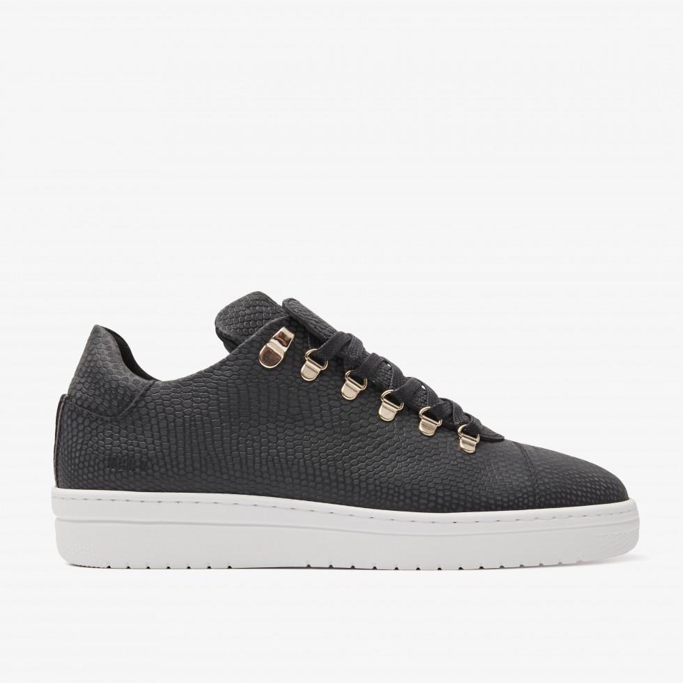 Nubikk YeYe Lizard Black Lizard Sneakers