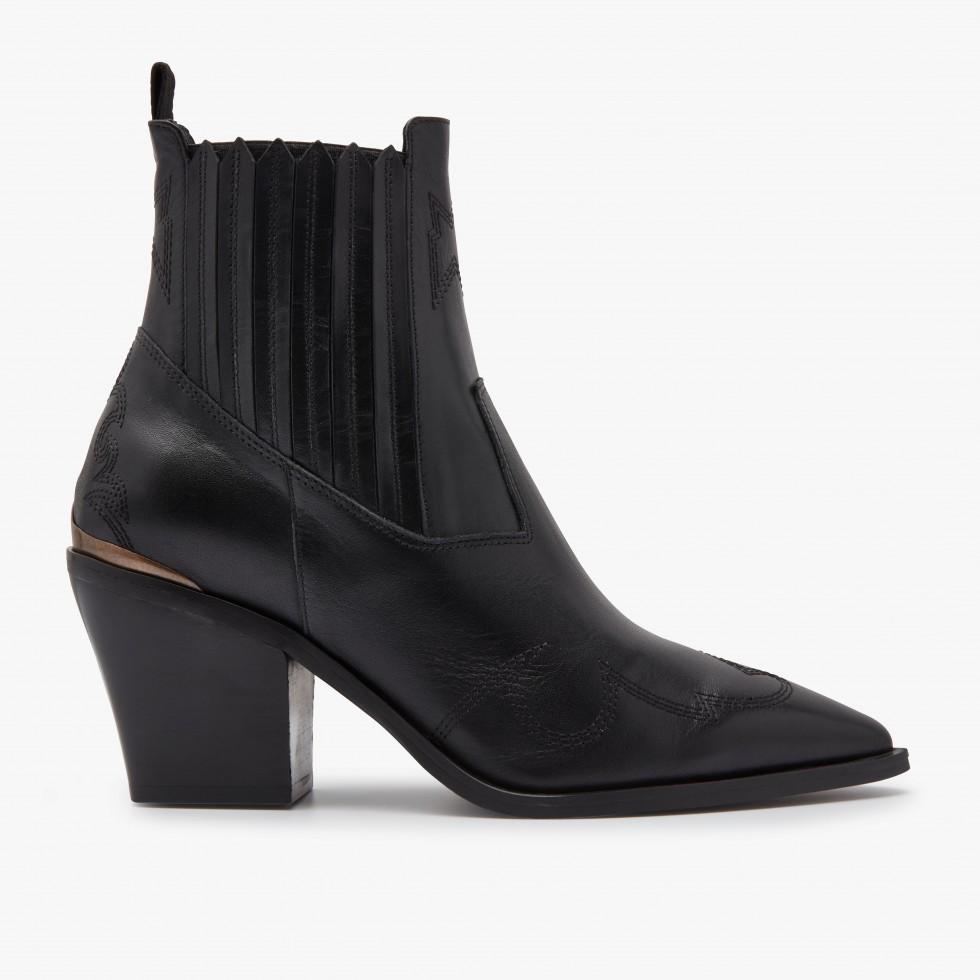 Nubikk Romee Cura Black Ankle Boots