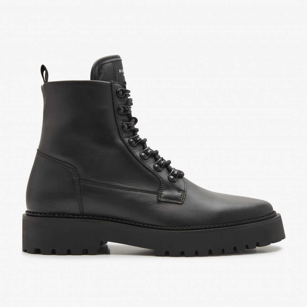 Black Biker Boots Logan Harbor Nubikk