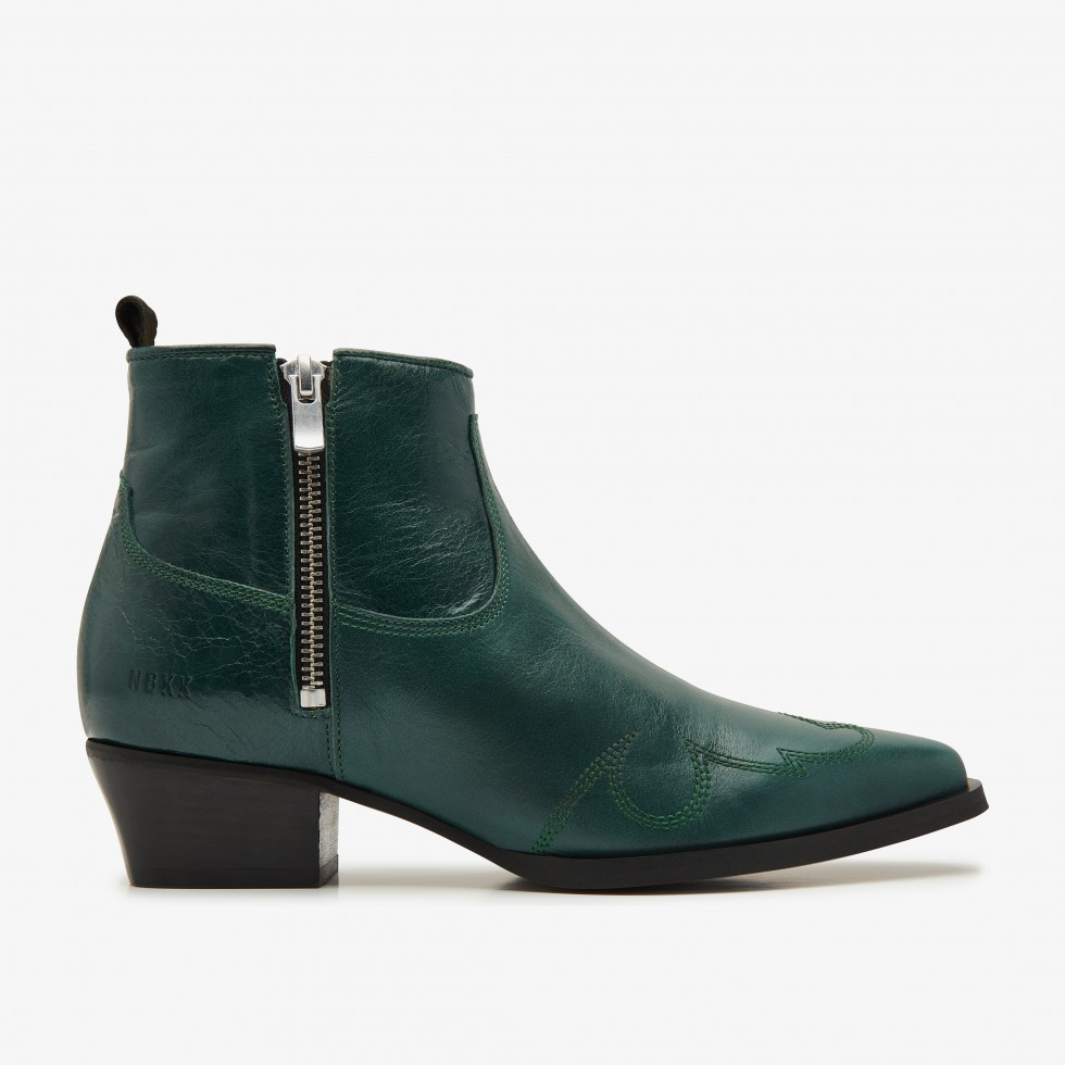 Green Ankle Boots Holly Golf Nubikk