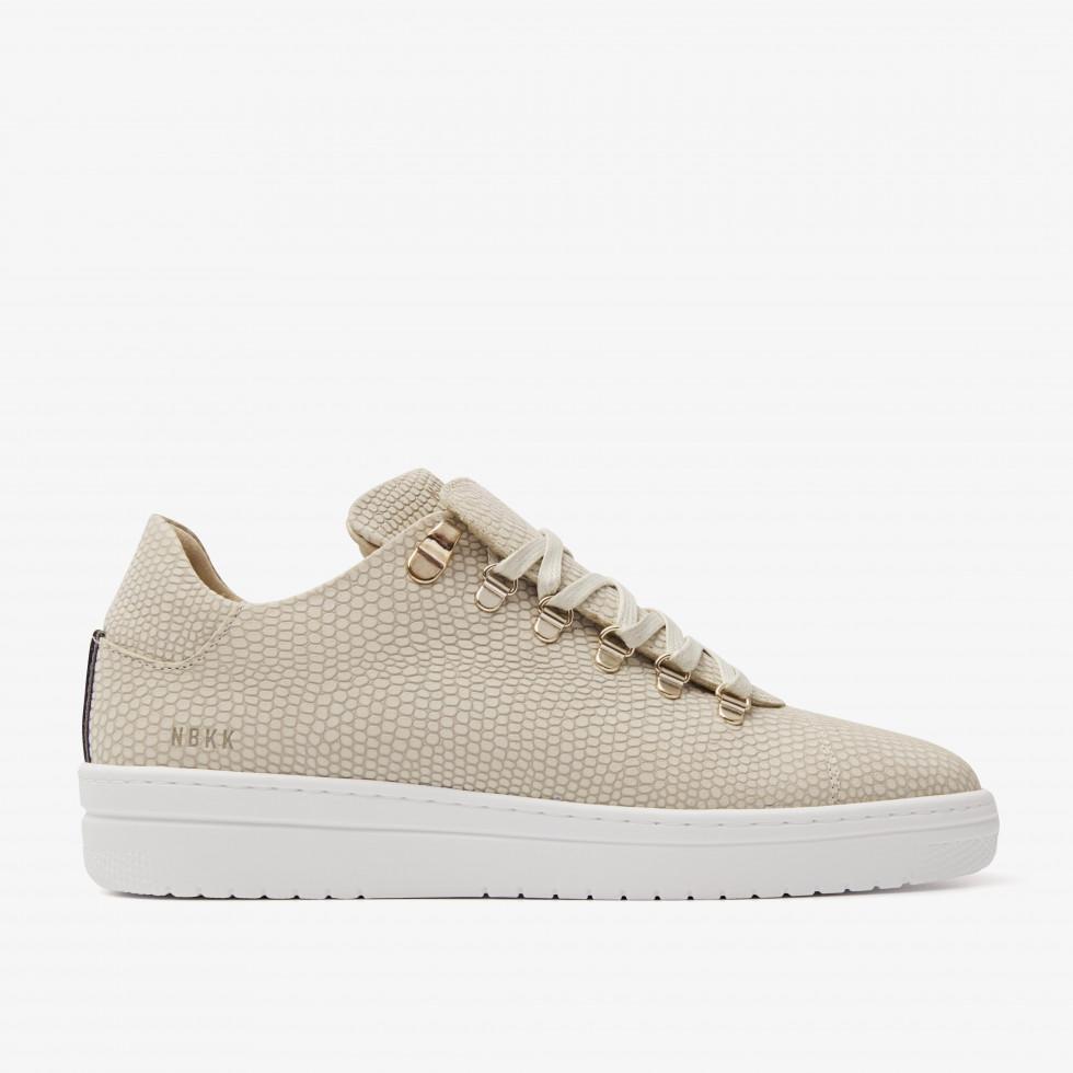 Nubikk YeYe Lizard Beige Lizard Sneakers