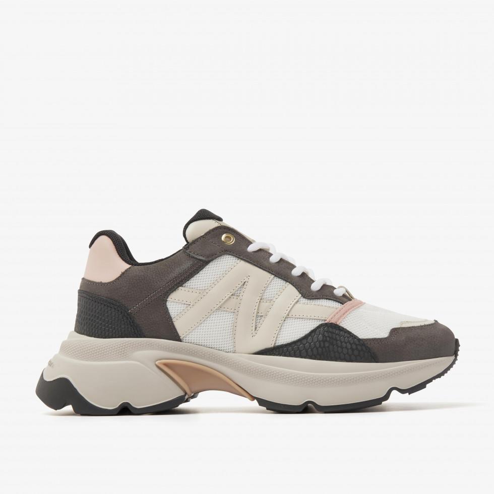 Nubikk Ross Trek L Multi Grijze Sneakers