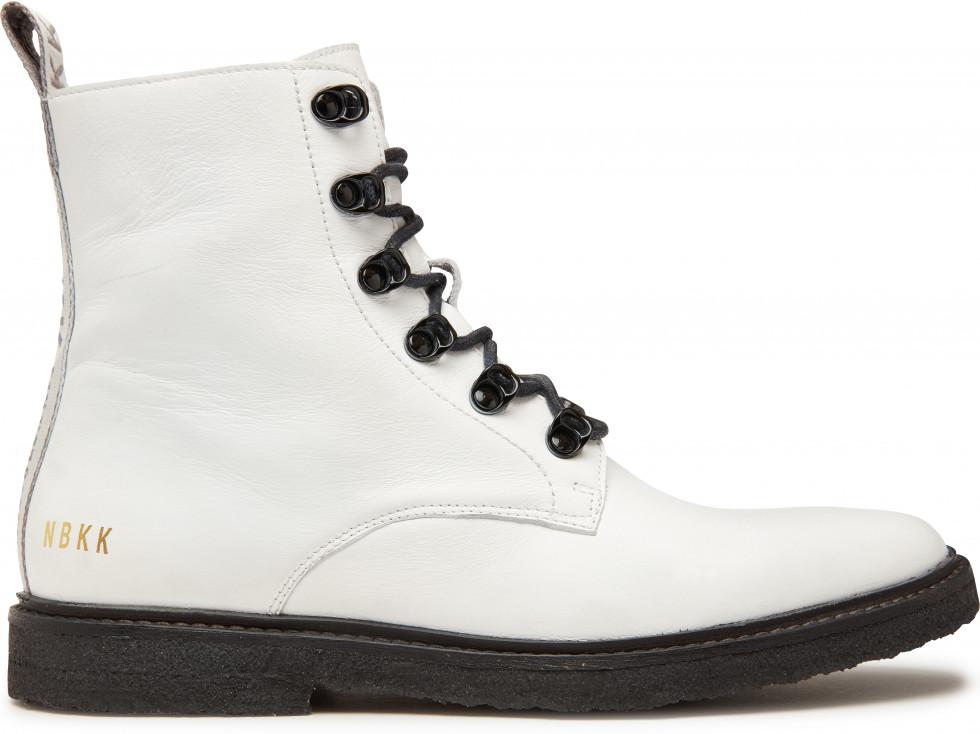 Witte Biker Boots Lilou Rock Nubikk