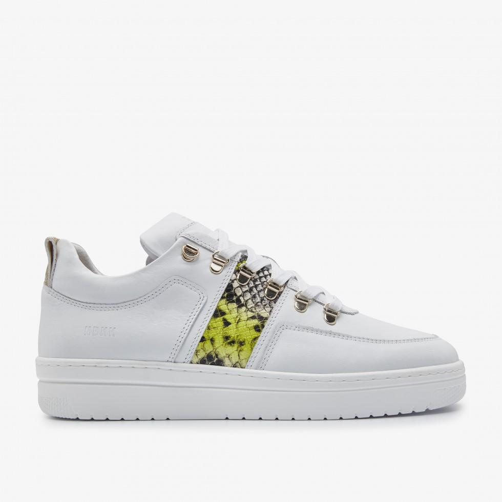 White Sneakers Yeye Block Python L Nubikk