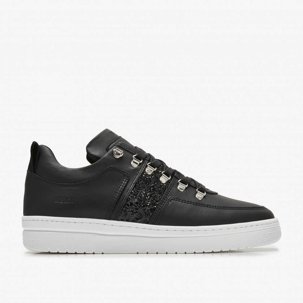 Zwarte Sneakers Yeye Maze Glitter Nubikk