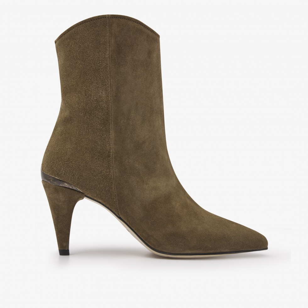 Ace Boheme | Taupe Ankle Boots