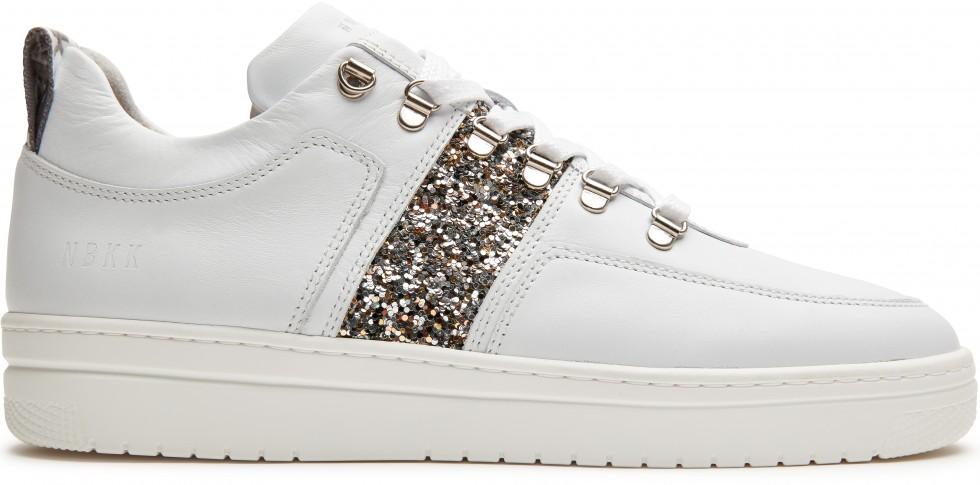 Witte Sneaker Yeye Maze Glitter L Nubikk