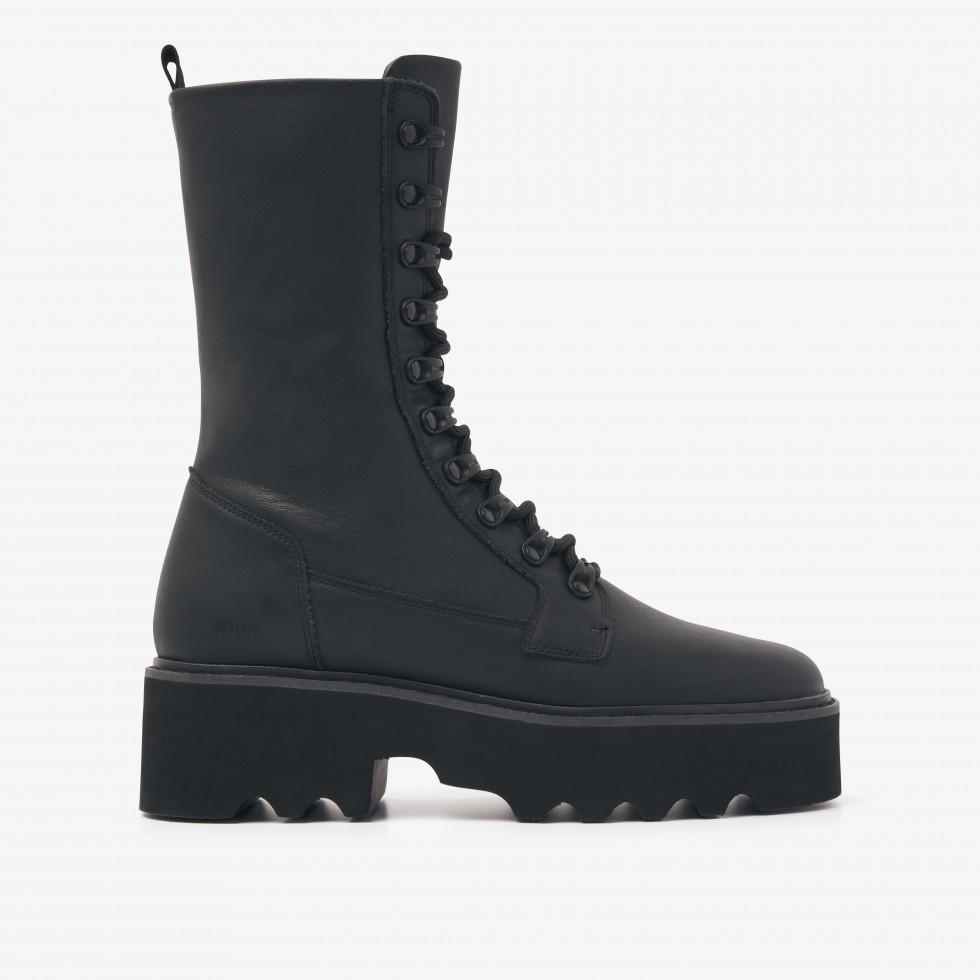 Nubikk Fara Noir Black Biker boots