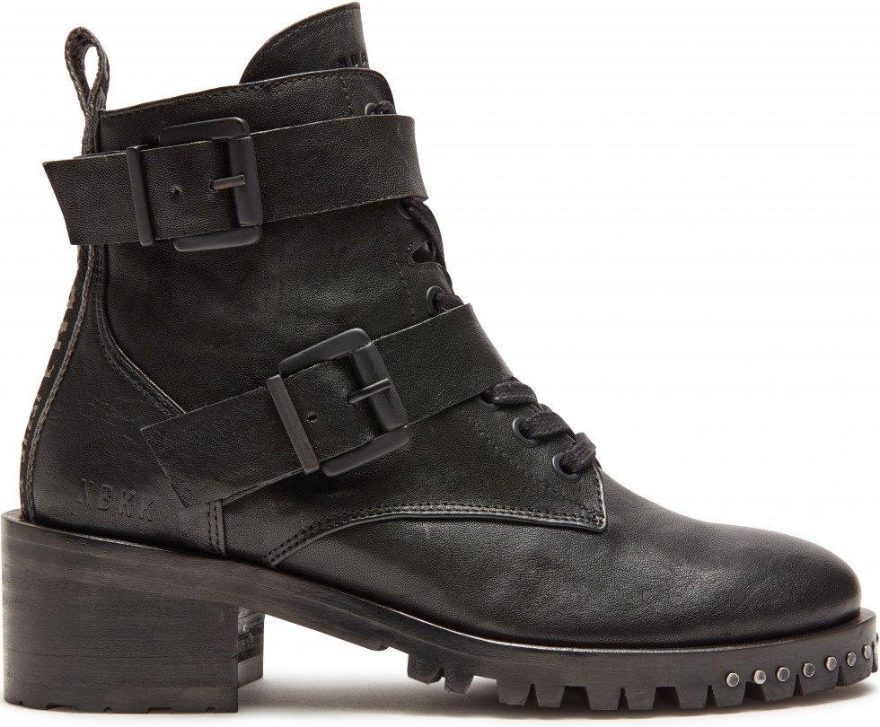 Black Biker Boots Djuna Buckle Nubikk