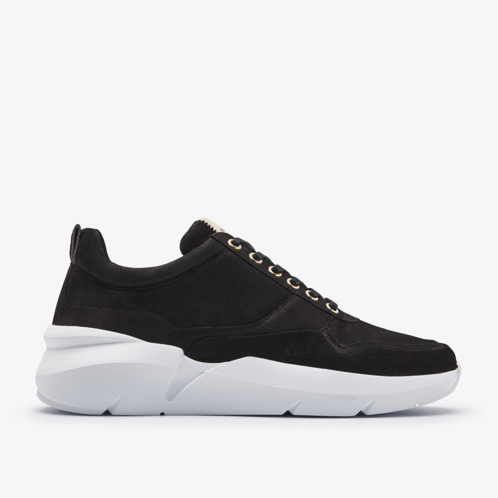 Black Sneakers Elven Tanuki Gold Nubikk
