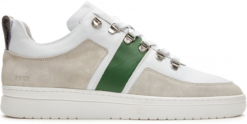White Trainers Yeye Block Green M Nubikk