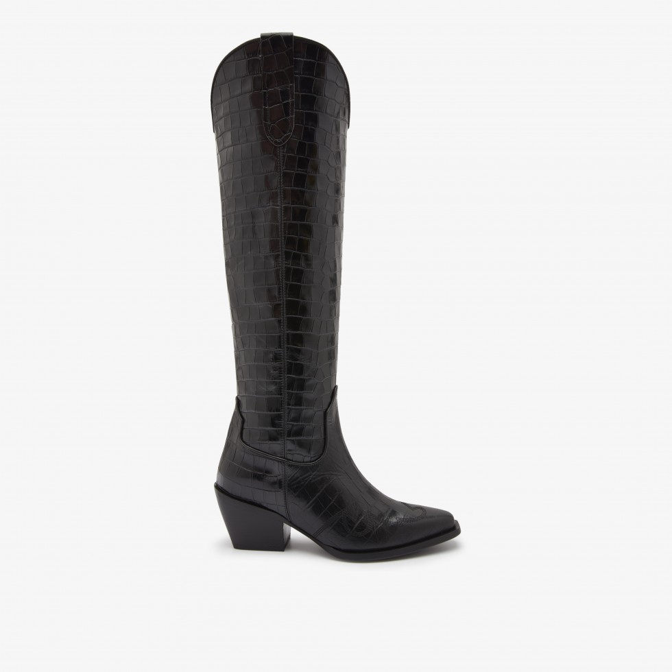 Nubikk Alex Gilly Croco Black Boots
