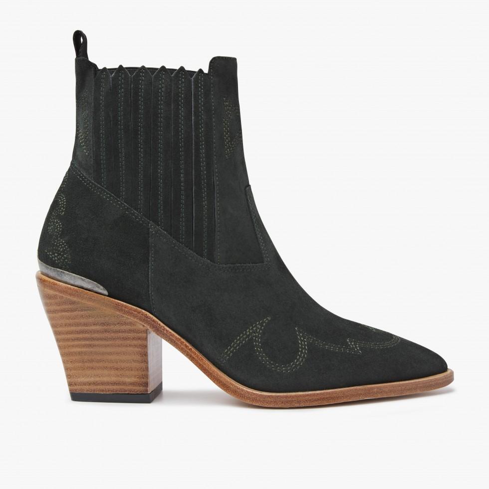 Nubikk Romee Cura Green Ankle Boots