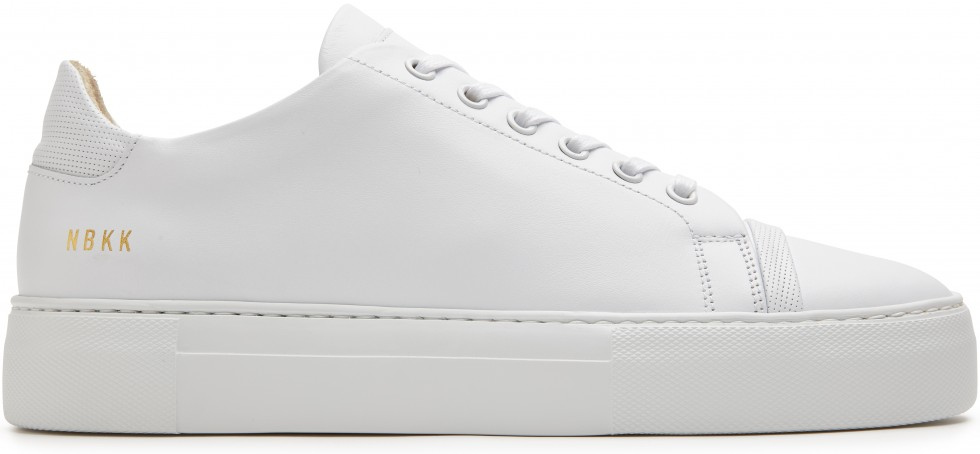 Weisse Sneaker Jagger Joe Leather Nubikk