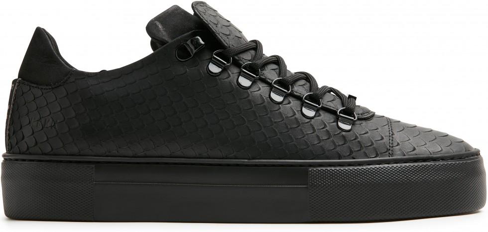 Schwarze Sneaker Jagger Python Nubikk