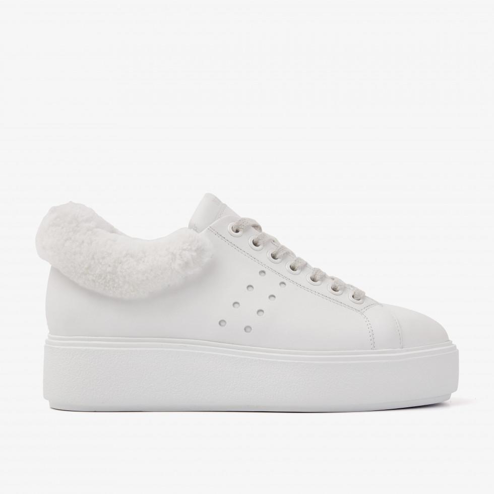Nubikk Elise Marlow Fur White Sneakers