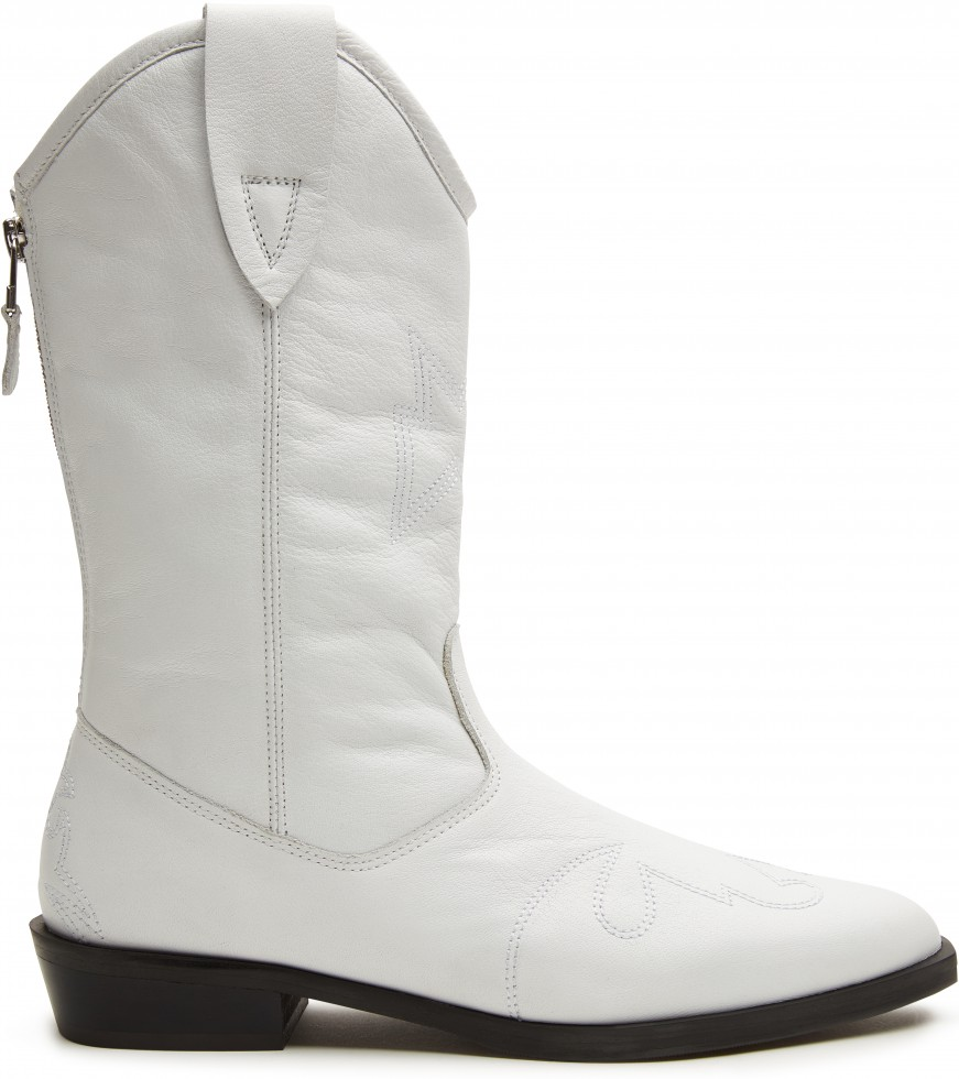 White Boots Jimmy Mid Nubikk