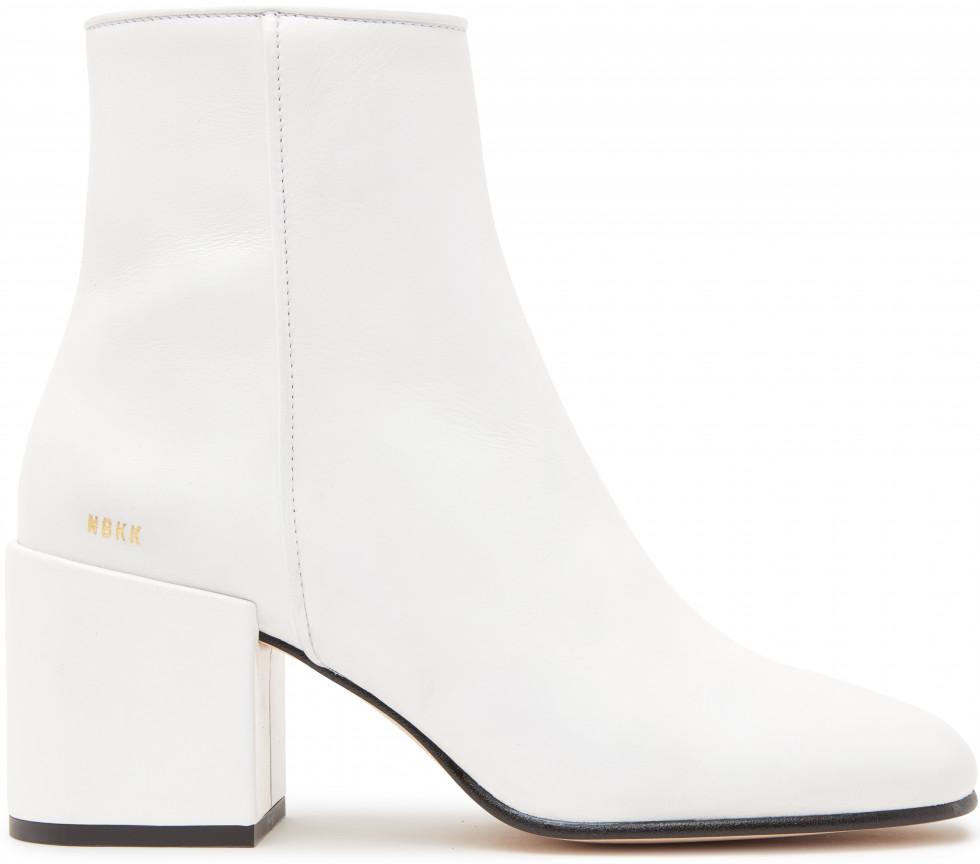 White Ankle boots Gigi Roma Calf Nubikk