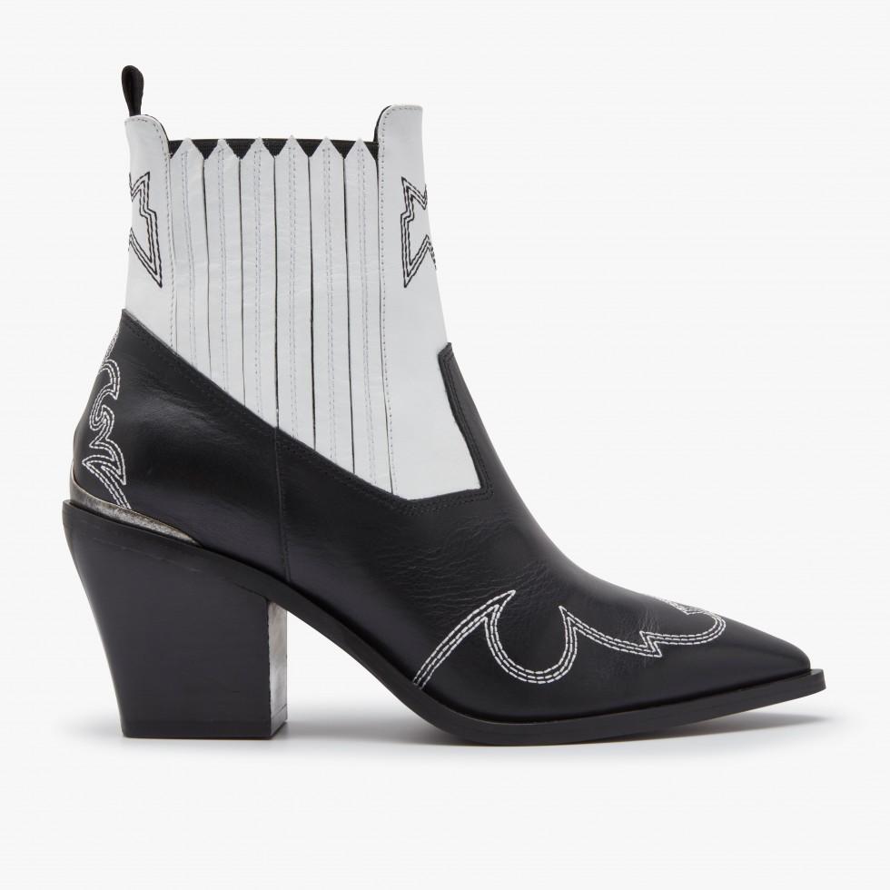 Black White Ankle Boots Romee Cura Nubikk