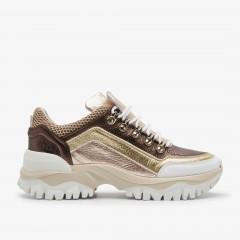 Tallis Mena | Gold Sneakers
