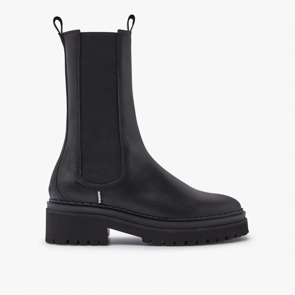 Nubikk Fae Adams Black Chelsea Boots