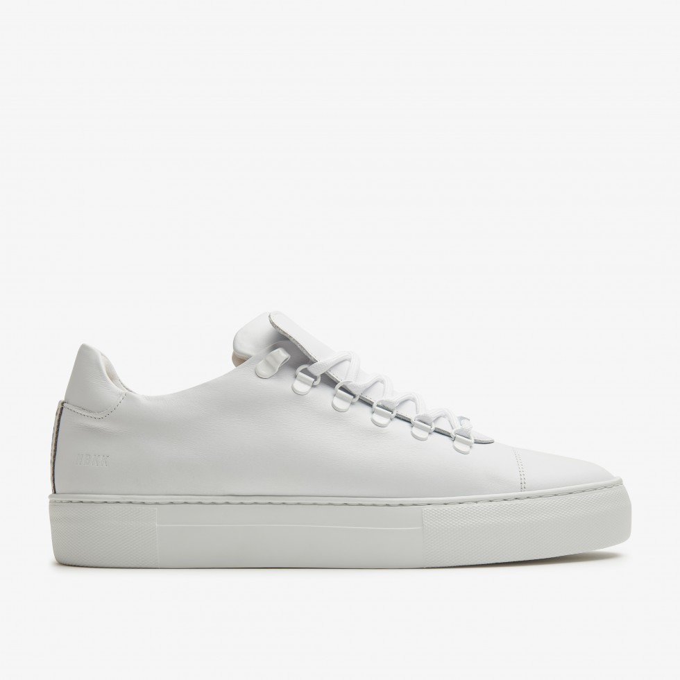 White Sneakers Jagger Calf Nubikk