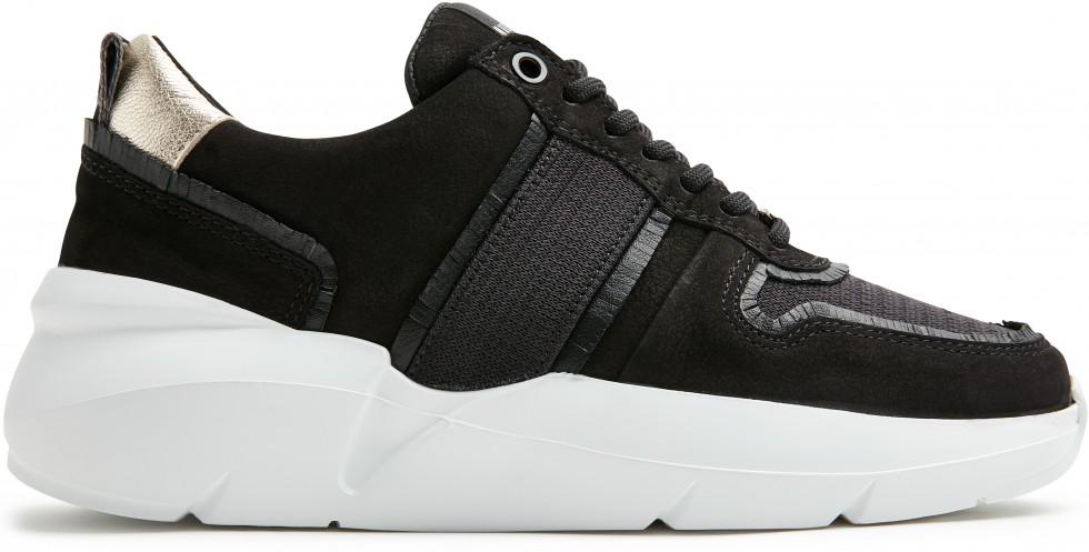 Zwarte Sneaker Lucy Fringe Nubikk