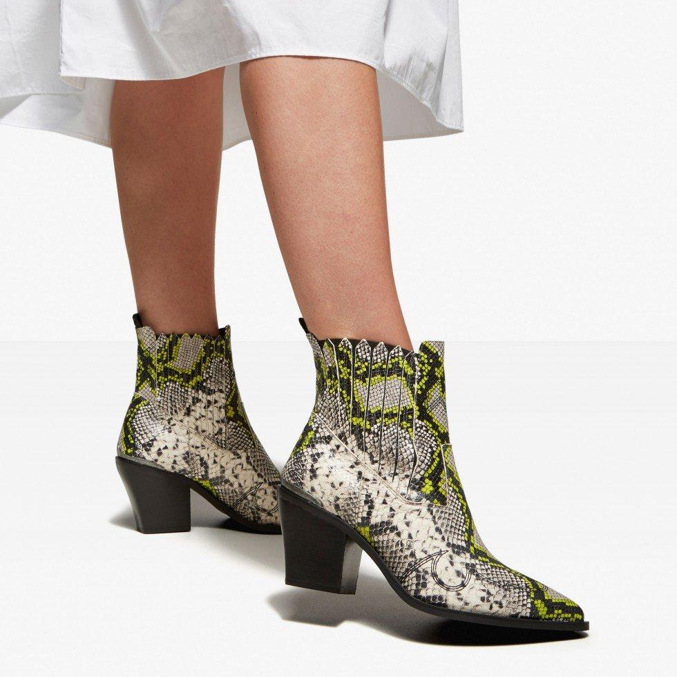 Beige Snake Ankle Boots Romee Cura Nubikk