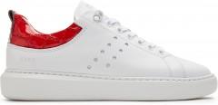 Rox Red Croco | Witte Sneaker