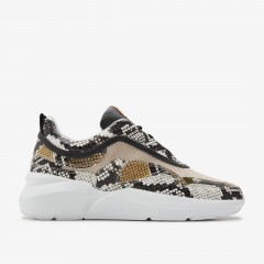 Lucy Boulder Python | Sneakers beiges