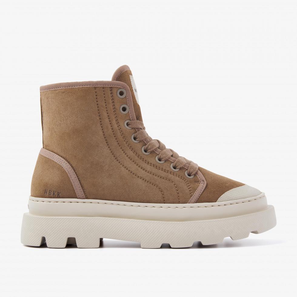 Nubikk Monro Cyrus Fur L Taupe sneaker boots